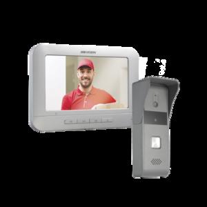 Kit de Videoportero Analógico con Pantalla LCD a Color de 7″ / Frente de Calle para Exterior